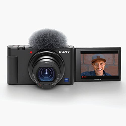 Sony ZV-1 Digital Camera for Content Creators, Vlogging and YouTube with Flip Screen,...