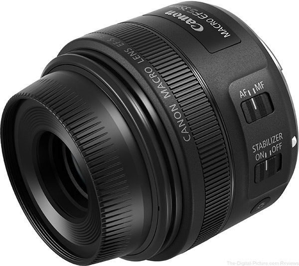 Canon EF-S 35mm f/2.8 Macro IS STM Lens with Hood