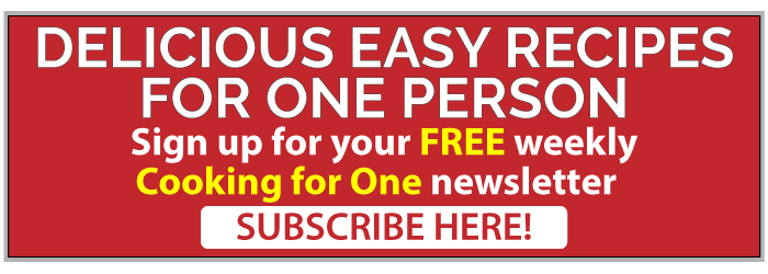 cooking for one subscription ad